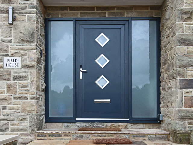 aluminum front door